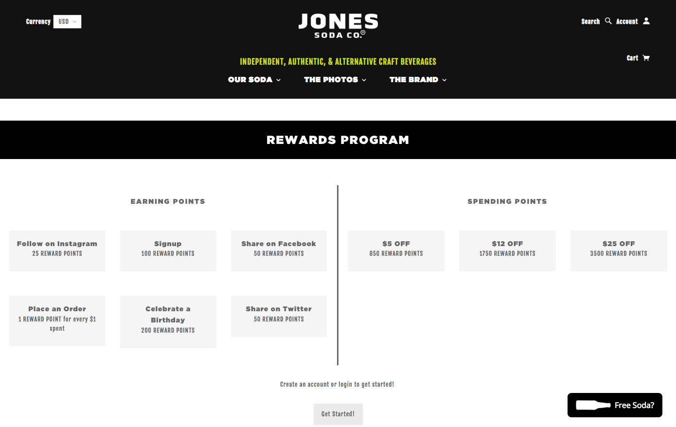 The Best eCommerce Loyalty Programs - Jones Soda