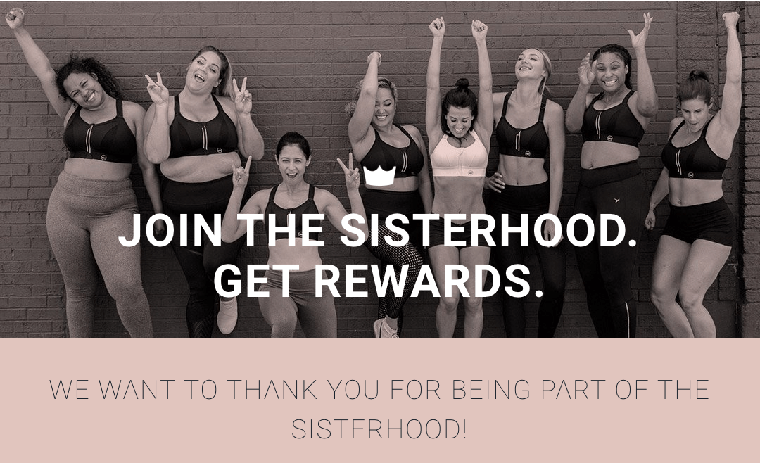 SheFit Sisterhood Rewards banner
