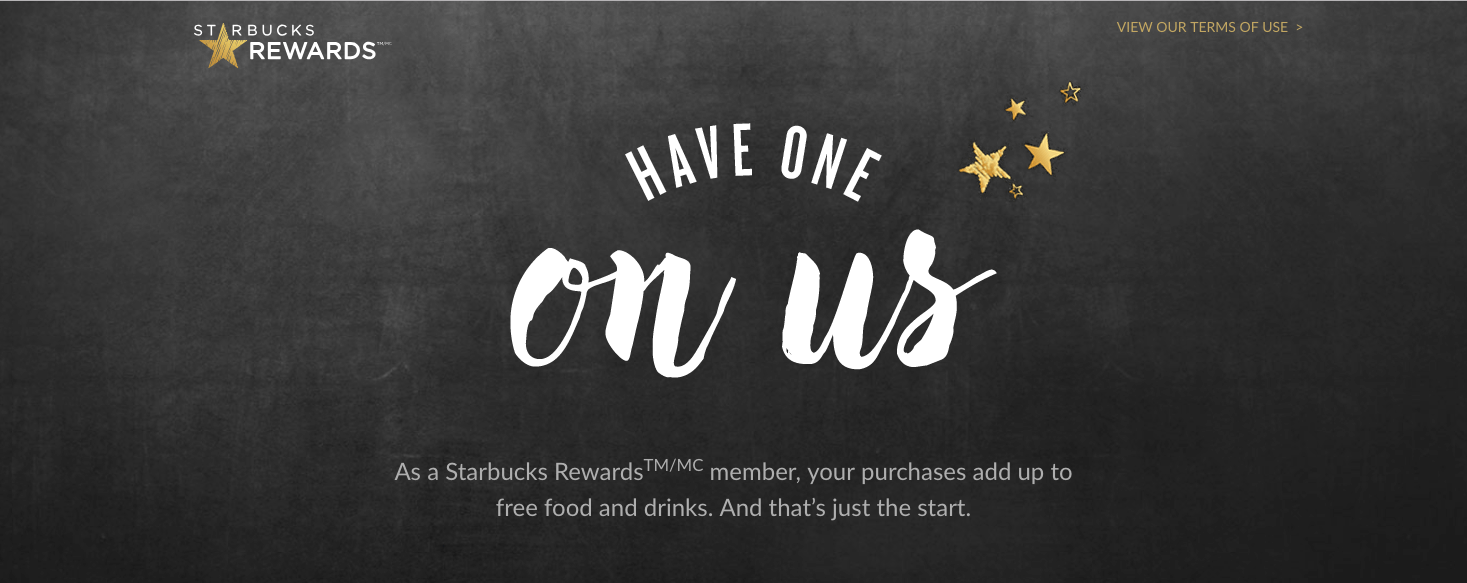 Starbucks Rewards banner