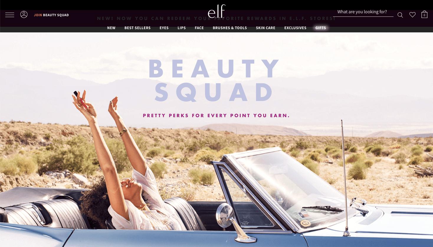 e.l.f.'s Beauty Squad banner