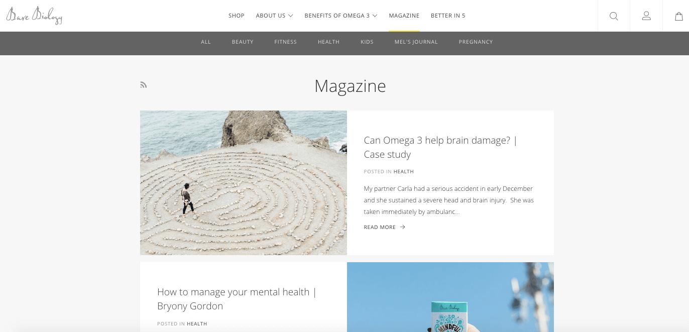 Bare Biology value-add magazine