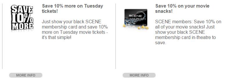 scene points discounts