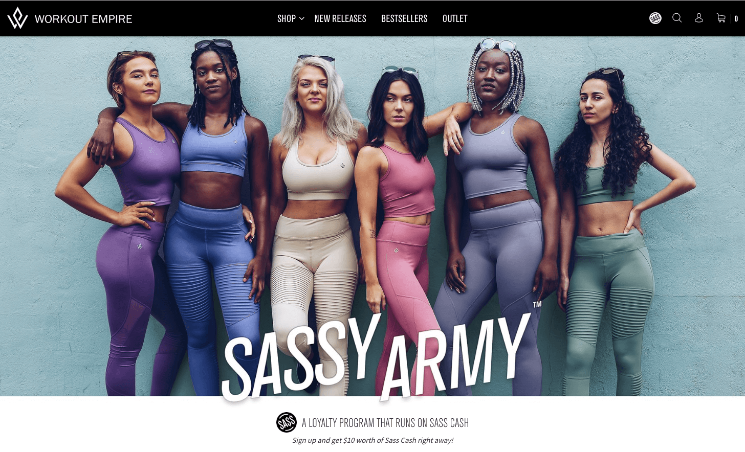 Workout Army's Sassy Army explainer page