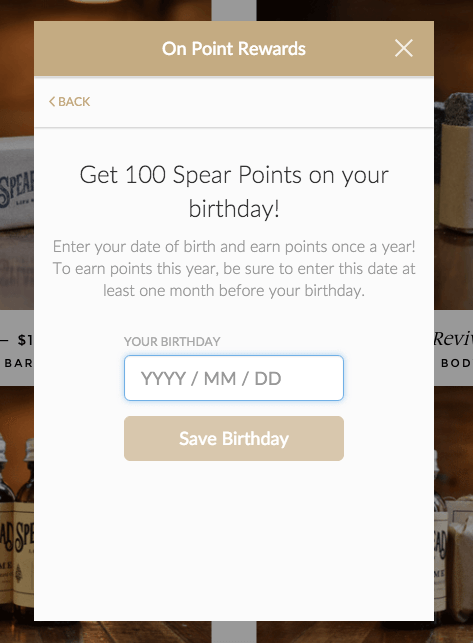 shopify loyalty program birthday