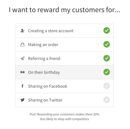 shopify loyalty program reward for