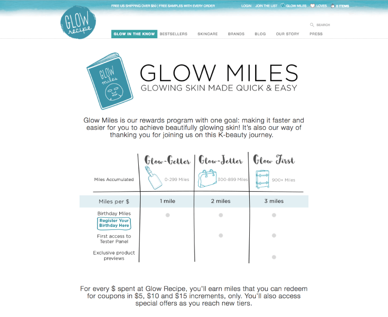 customer motivations glow recipe