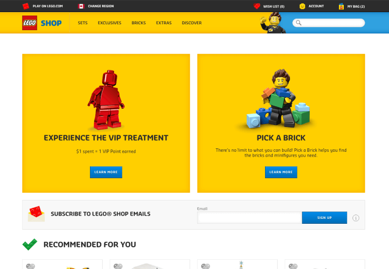 customer motivations fatigue lego home page