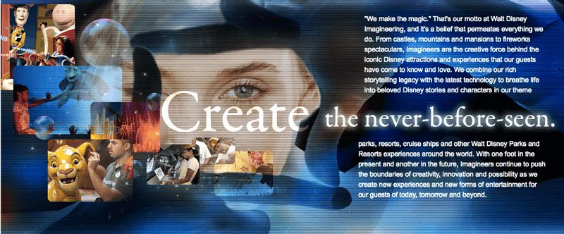 walt disney world imagineering homepage