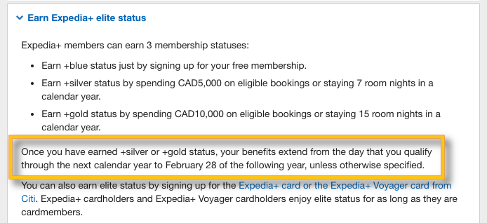 expedia+ elite tier