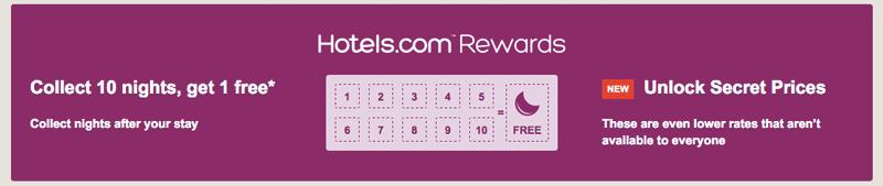 hotels.com rewards punch card