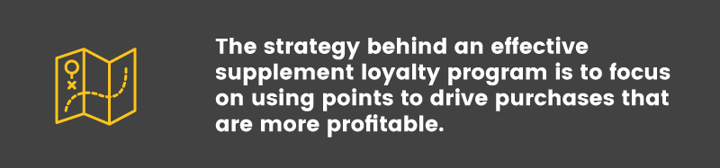 loyalty program in the supplements industry strategy