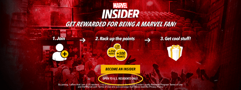 marvel insider open to us residents