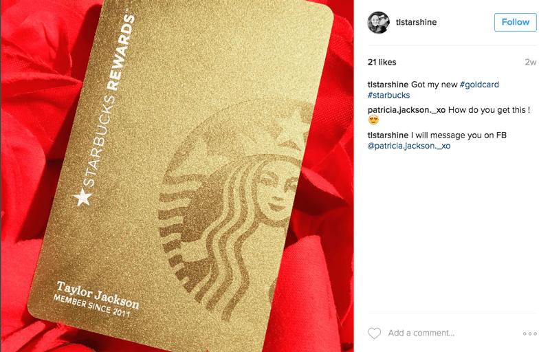 Starbucks Rewards Gold Card Finally