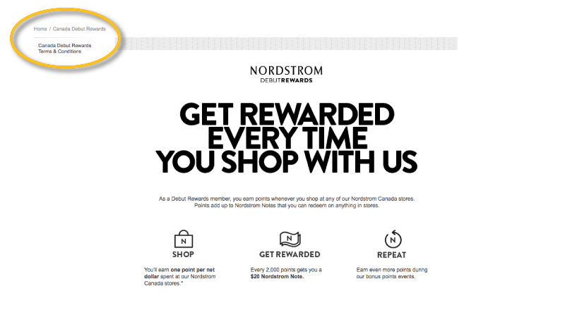 nordstrom rewards canada debut