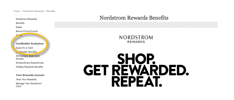 nordstrom rewards cardholder exclusives