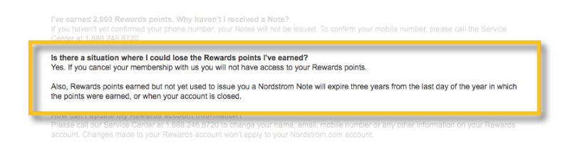 nordstrom rewards redemption window