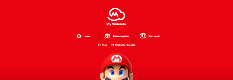 ecommerce loyalty pages nintendo