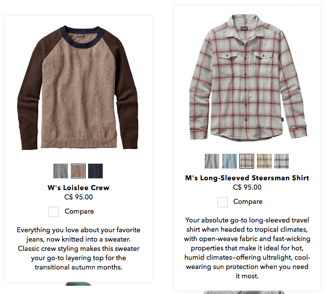 patagonia product descriptions