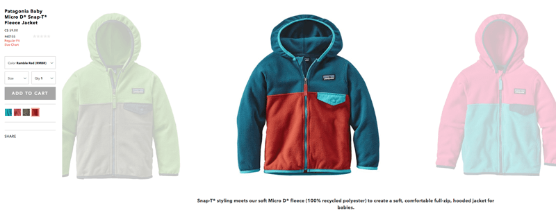 patagonia recycled product description
