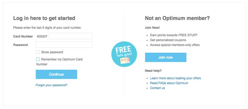 shoppers optimum explainer page