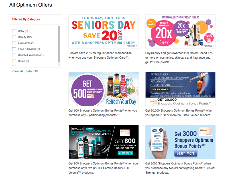 shoppers optimum offers