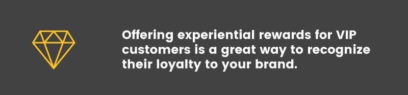online and offline experiential rewards