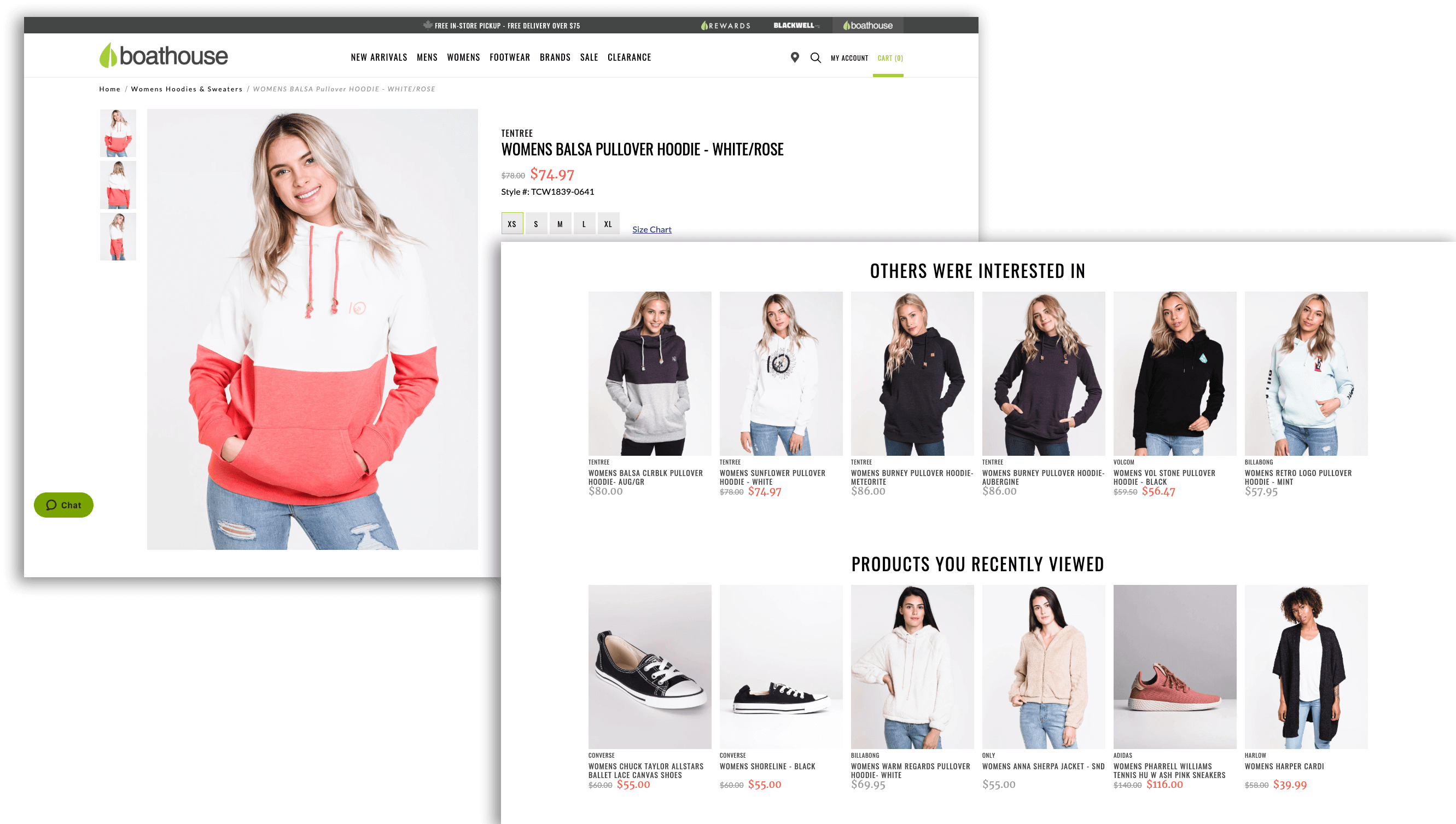 personalization tactics - boathouse product recommendations overlap