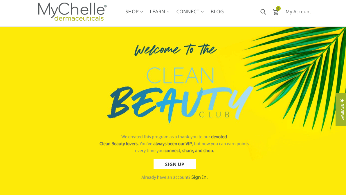 Best Rewards of 2018 - MyChelle Beauty Club Home