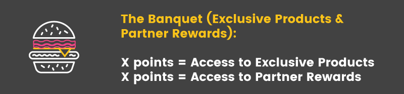 multiple ways to redeem rewards the banquet
