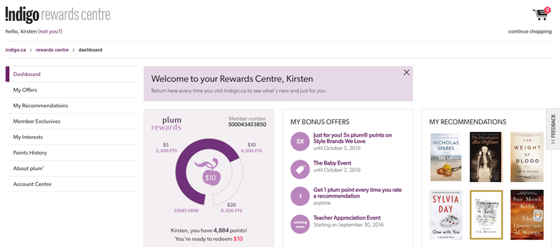 women want in a loyalty program plum home page