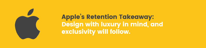 apple doesn't have a loyalty program retention takeaway luxury