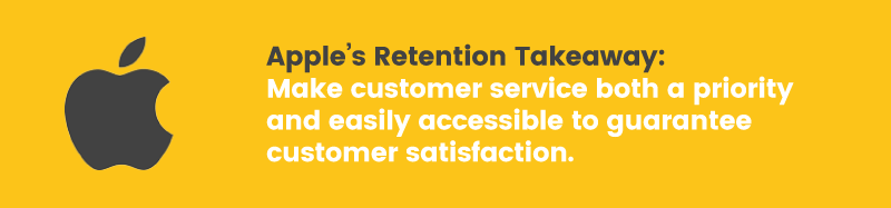 apple doesn't have a loyalty program retention takeaway customer service