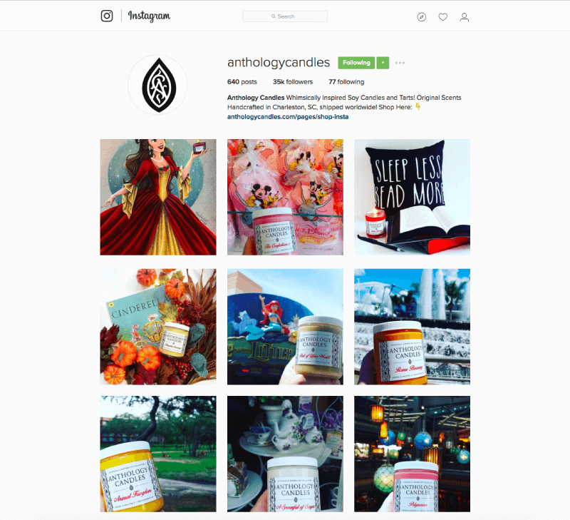 marketing budget anothology instagram