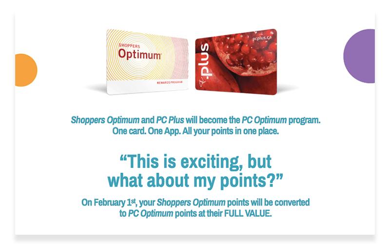 PC Optimum Program Merge