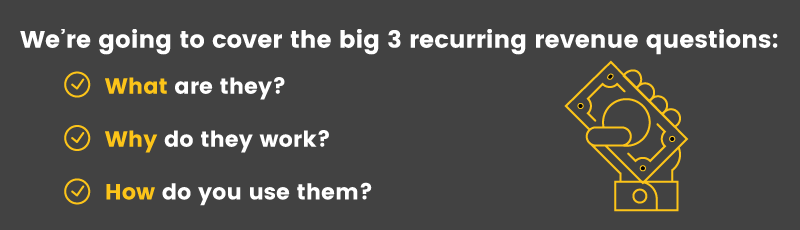 We're tackling the big three recurring revenue questions: What, Why and How.