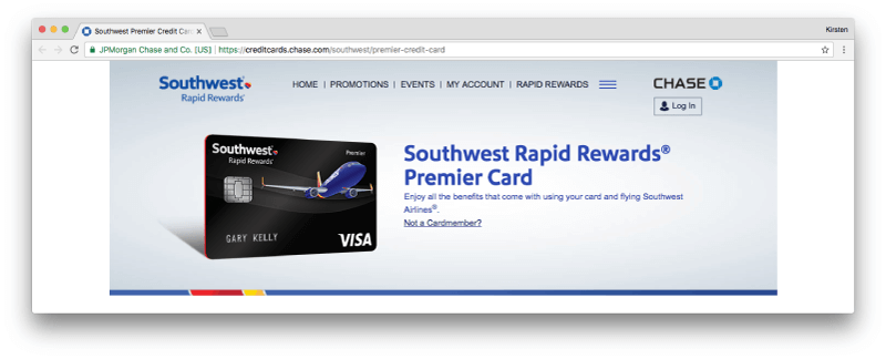 Southwest Premier Credit Card