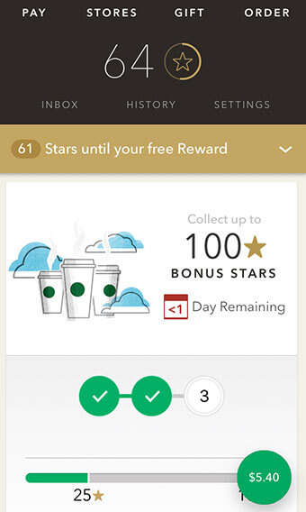 Starbucks Star Dash Challenge