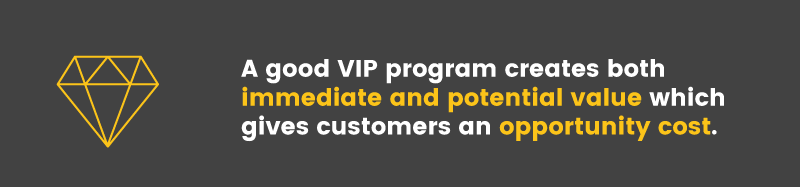 VIP programs create opportunity switching costs