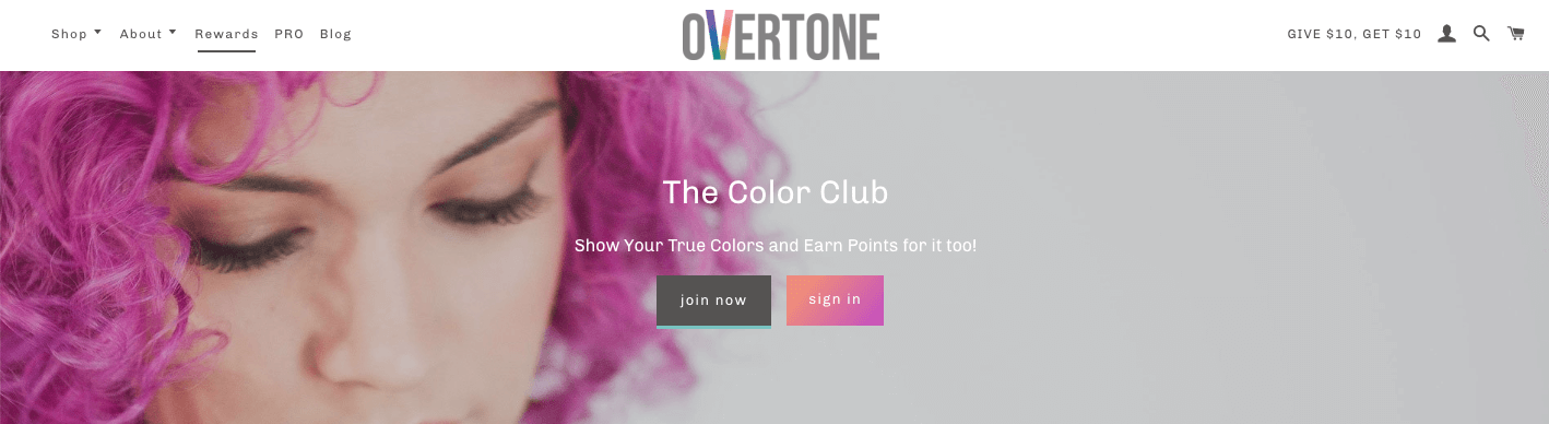 oVertone The Color Club banner