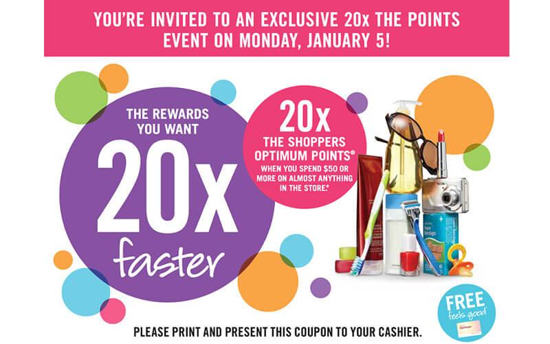 Shopper's Drug Mart 20x The Points Event
