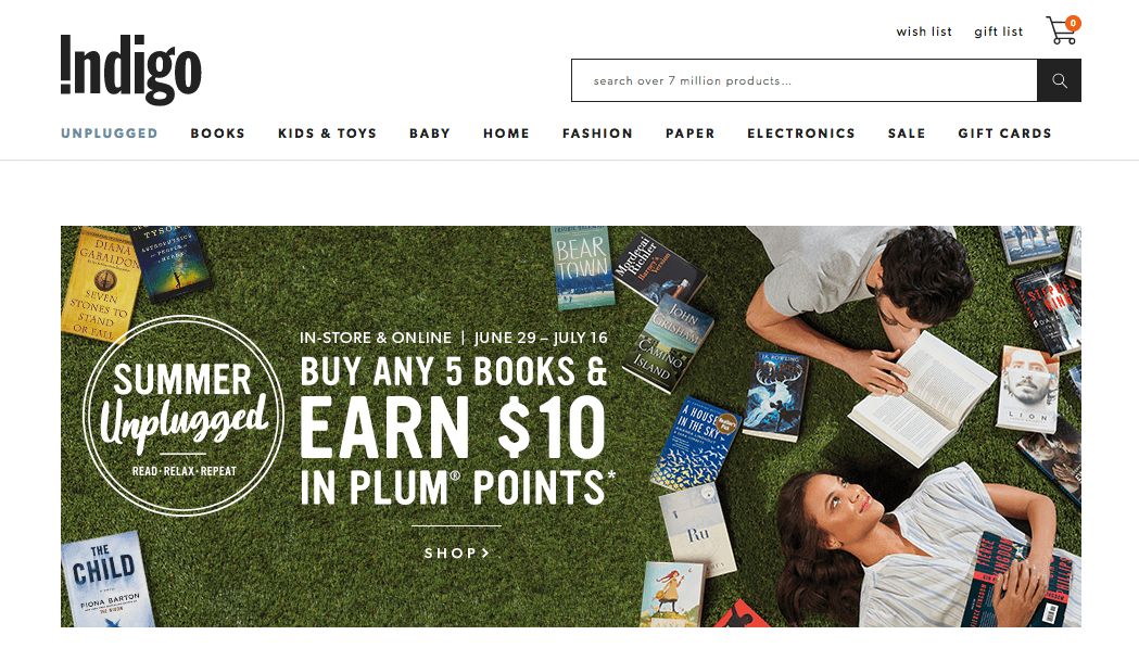 Indigo Website Bonus Points Event