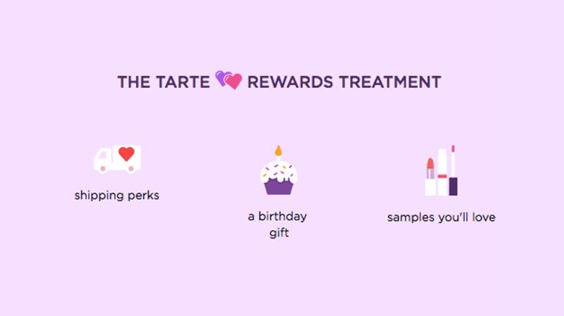 The tarte Rewards Treatment