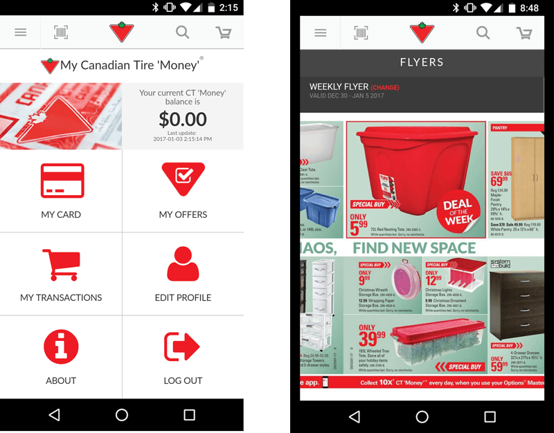 canadian tire money app