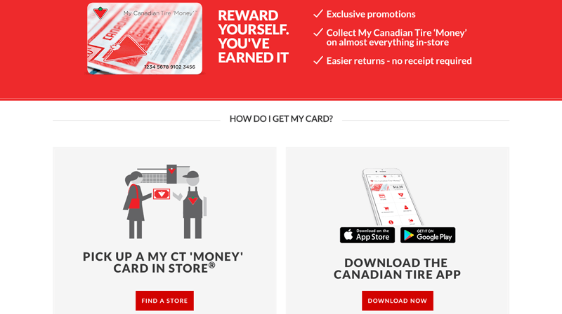 canadian tire money signup