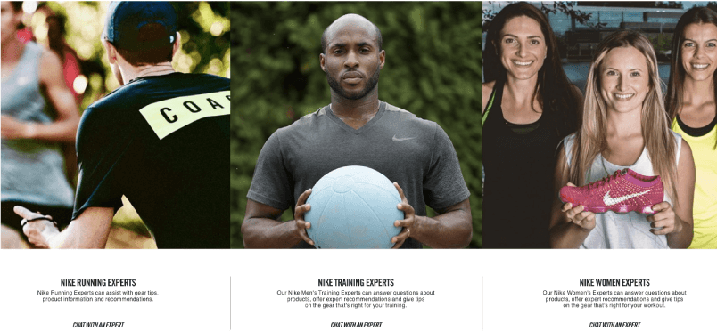 Nike+ members get access to Nike experts through their program