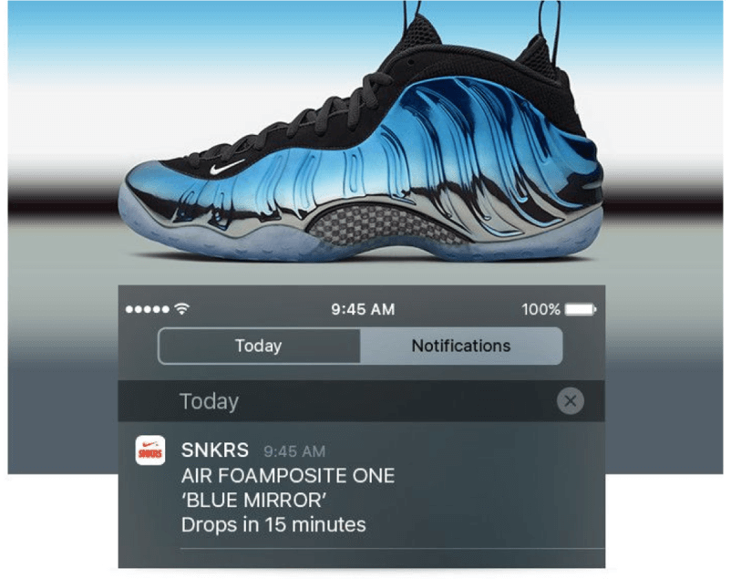 Nike+ SNKRS app lets customers know when new shoes drop