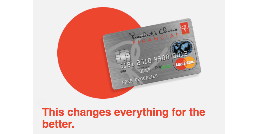 PC Optimum Credit Card
