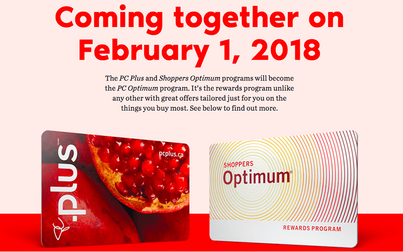 Shoppers Optimum and PC Plus Merge