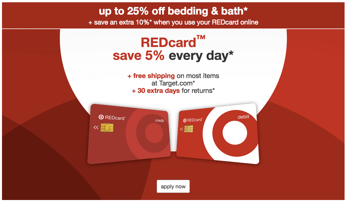 Target's REDcard debit and credit cards