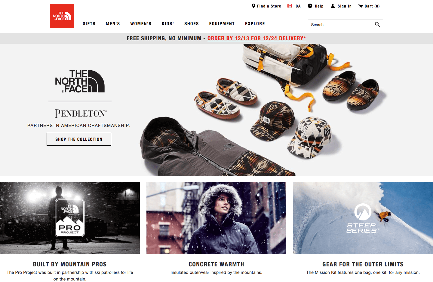 vipeak rewards north face homepage